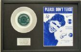 "CLIFF RICHARD - 7"" Platinum Disc+Song Sheet- PLEASE DON'T TEASE"